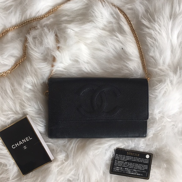 25a5456ea6ae CHANEL Handbags - Chanel Wallet with Chain Strap